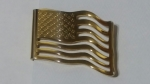 Vintage Goldtone Money Clip or Tie Clasp – USA Stars & Stripes Flag