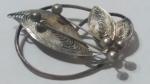 299028 Vintage Brooch Pin 1910s Antique Floral Design C Clasp Goldtone