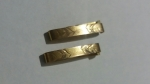 Vintage Lingerie Clips 1910s Gold Top Set of 2 - Antique