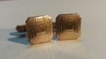 Vintage Cufflinks 1930s SWANK - 1/20 10K Gold Filled - Antique