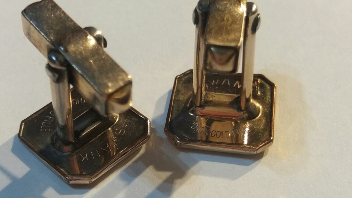 Vintage 1930s SWANK 1/20 10K Gold Filled Cufflinks Antique