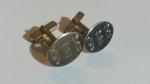 213016 Vintage Cufflinks 1950s SWANK Goldtone Monogrammed RWC