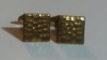 Vintage Antique Victorian Edwardian Cufflinks – Goldtone Square Collectable