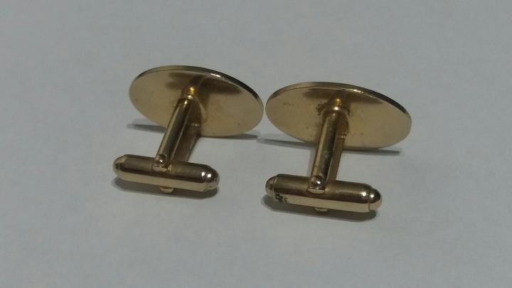 Vintage 1980s Cufflinks - Goldtone Jewelry Shirt Accessory