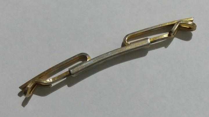 Vintage 1930s HICKOK Extendable Collar Bar - Goldtone