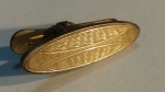 249005 Vintage 1930s Art Deco Goldtone Cravat Clip Tie Clasp