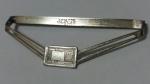229033 Vintage Tie Clasp 1910s Antique GIANT GRIP KLIK IT Tie Clip Bar with Chain RARE