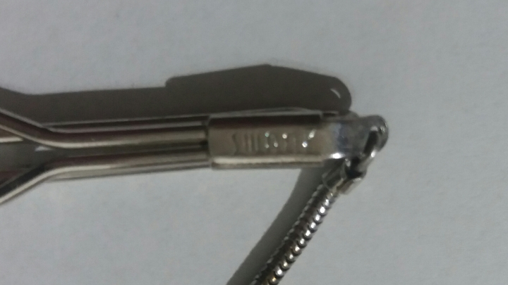 Vintage 1940s SWANK Tie Clasp Clip Bar with Snake Chain - Silvertone