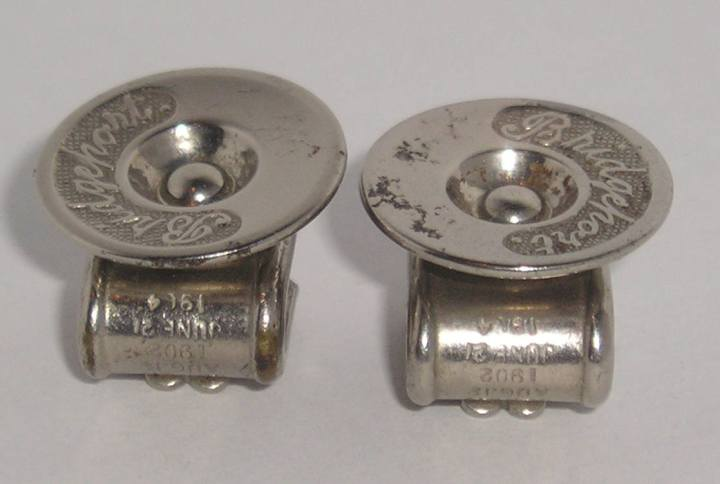 Vintage Antique 1904 BRIDGEPORT Silvertone Shoe Clips