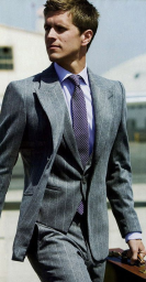 stylish three piece suit