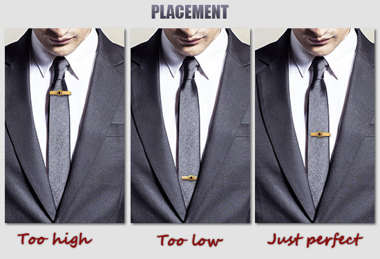 how to wear a tie clasp