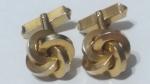 219071 - Vintage Cufflinks 1940s Four Pillars Power of Four Goldtone