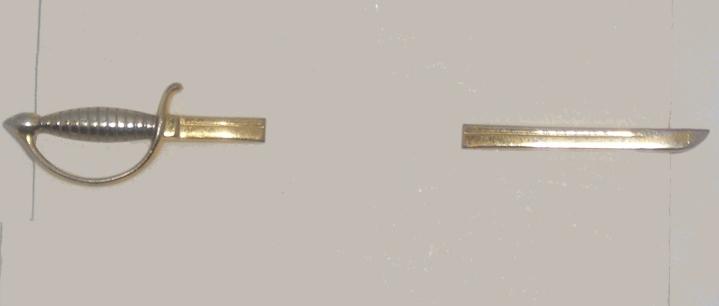 Vintage Tie Clasp - Pierced Look