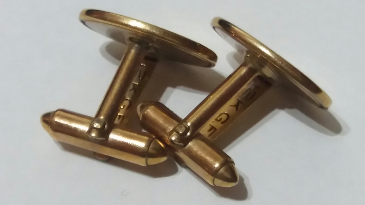 Swank Cufflinks - rounded toggle bar