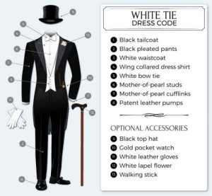 Dress Codes for Men - White Tie