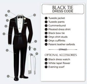 Dress Codes for Men - Black Tie