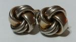 213061 Vintage Cufflinks 1940s SWANK Duotone (Gold/Silver) Celtic 3D Knot Irish