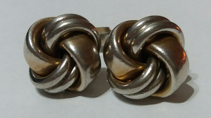Vintage Cufflinks by SWANK, 1940s - Irish Celtic Knot