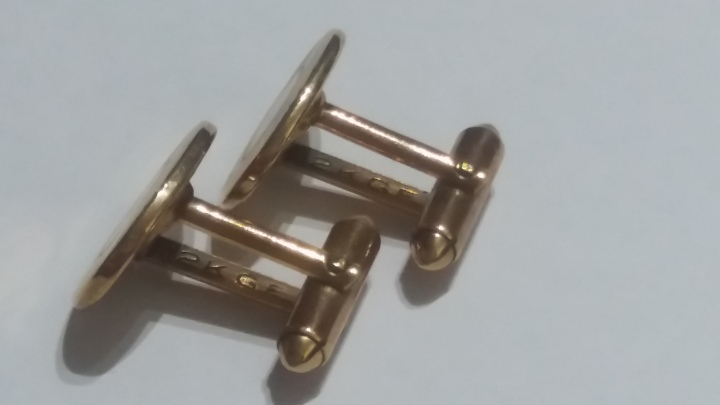 Vintage Cufflinks 1960s HADLEY 12K Gold Filled