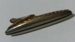 226087 Vintage Tie Clasp Clip Bar HICKOK USA 1960s Silvertone Ellipse