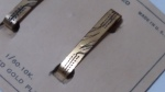 299066 Vintage 1910s LAN Lingerie Clip Set 1/60 10K Rolled Gold Plate Original Card