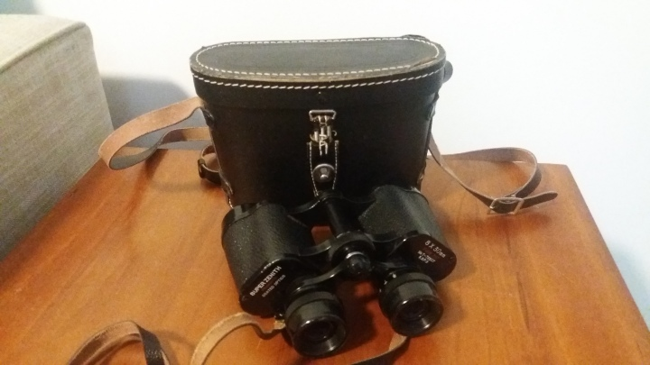 Vintage Binoculars Super Zenith Prismatic Coated Optics 8x30mm Field 7.5 with Case