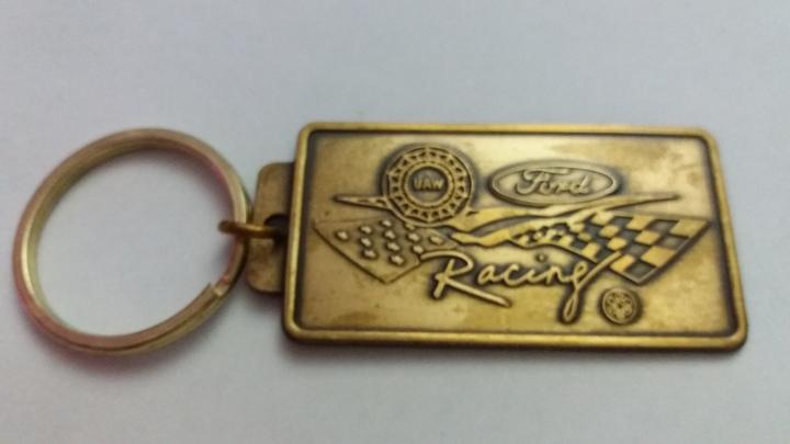 Vintage Key Ring 1970s Ford Racing UAW Auto Memorabilia Keyring