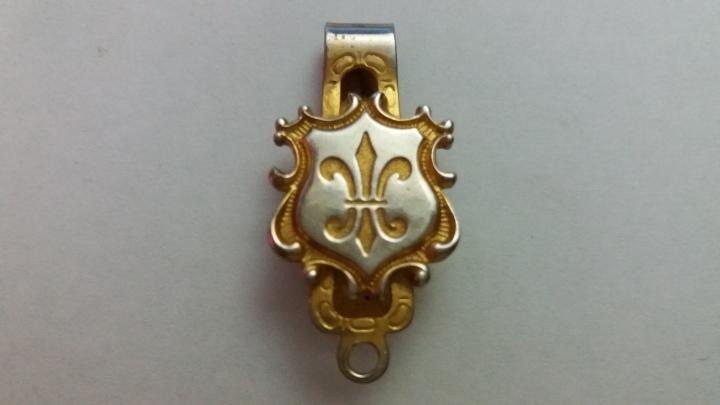 299123 Vintage Burlesque Lingerie Clip Fleur de Lis