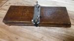 299127 Vintage Tie Press 1930s Wood Chrome Antique Art Deco