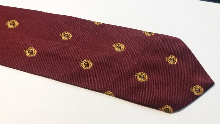 Vintage Necktie 1960s EIIR Royal Cypher of Queen Elizabeth II
