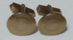 213069 Vintage Cufflinks 1940s SWANK Goldtone Decorative Round Stylish