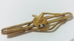 229079 Vintage Tie Clasp 1950s Slide FOE Fraternal Order of Eagles Gold Tie Clip Bar