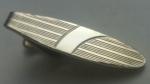 229154 Vintage Tie Clasp 1970s Goldtone Decorative Tie Clip Bar Fabulous Retro