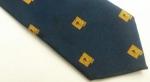 D89156 Vintage Necktie 1980s GIVENCHY Pure Silk Tie Navy Blue Gold