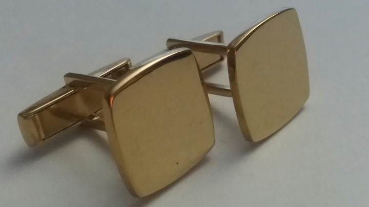 219167 Vintage Cufflinks 1960s AVEDON Vermeil Gold Plated Sterling Silver Cuff Links