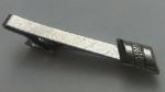 229168 Vintage Tie Clasp 1970s Brushed Silvertone Retro Tie Clip Bar