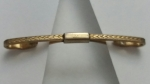 269175 Vintage Collar Bar 1940s Goldtone Decorative Front