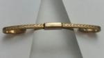 269175 Vintage Collar Bar 1940s Goldtone Decorative Front