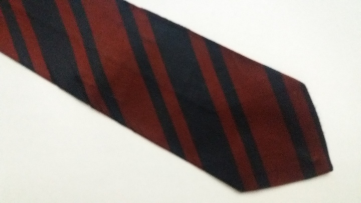 D89157 Vintage Tie 1950s - Corps of Royal Engineers Regimental Necktie RE Made in GB