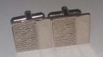 219183 Vintage Cufflinks 1970s Goldtone Decorative Fronts Cuff Links