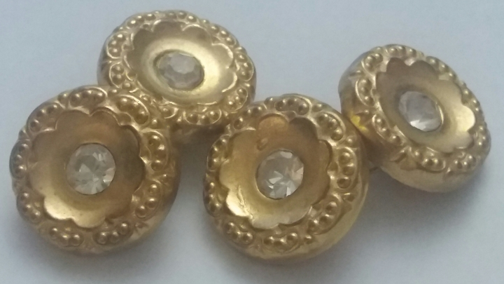 219184 Vintage Cufflinks 1920s Art Deco Antique Goldtone Chain Link Cuff Links