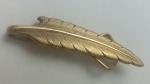 223185 Vintage Tie Clasp 1930s SWANK Leaf Design Slide-On Tie Clip Bar