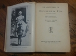 BMT101 Mark Twain HUCKLEBERRY FINN Hard Cover Harper Brothers Early Edition Signed Rare