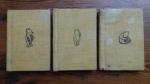 BAM198 WINNIE THE POOH 3x Hard Cover Mini Books RARE 1968 COLLECTABLE